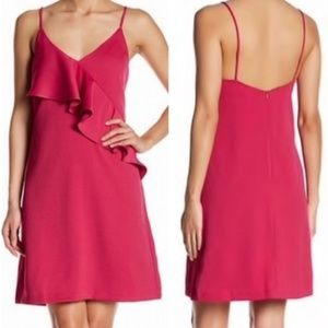Chelsea28 Pink Ruffle Slip Dress